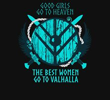 good girls go to heaven.... THE BEST WOMEN GO TO VALHALLA #3 Women's Fitted Scoop T-Shirt