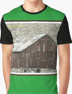 Old building as art framed Graphic T-Shirt