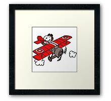 flying snoopy Framed Print