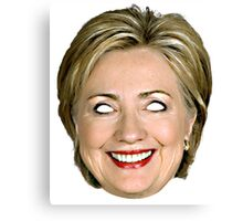 Evil Hillary Clinton Canvas Print