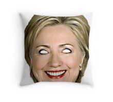 Evil Hillary Clinton Throw Pillow