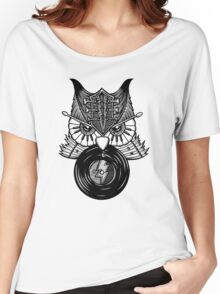 Rock 'n' Roll Owl Night Women's Relaxed Fit T-Shirt