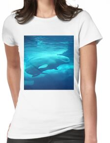 Beluga Whale Womens Fitted T-Shirt