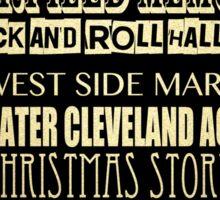 Cleveland Ohio Famous Landmarks Sticker