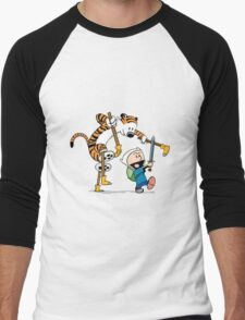 hobbes and calvin time advanture Men's Baseball ¾ T-Shirt