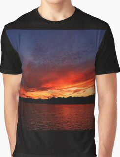 Red Sunset over Blue Sky   Graphic T-Shirt