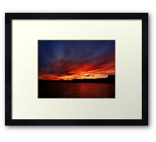 Red Sunset over Blue Sky   Framed Print