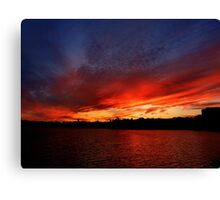 Red Sunset over Blue Sky   Canvas Print
