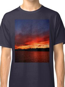 Red Sunset over Blue Sky   Classic T-Shirt