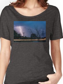 17th Street Car Lights and Lightning Strikes Women's Relaxed Fit T-Shirt