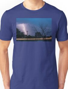 17th Street Car Lights and Lightning Strikes Unisex T-Shirt