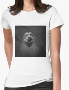 Harbor Seal III BW SQ Womens Fitted T-Shirt