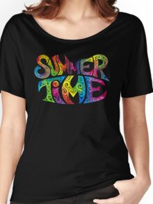 Swirly Summer Time Women's Relaxed Fit T-Shirt