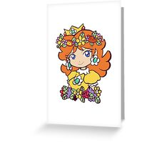 Flower Crown Princess Daisy Greeting Card