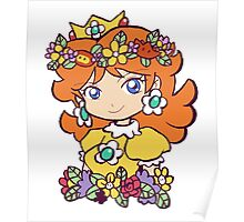 Flower Crown Princess Daisy Poster