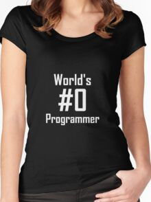 World's #0 Programmer Women's Fitted Scoop T-Shirt