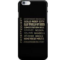 Johannesburg Famous Landmarks iPhone Case/Skin