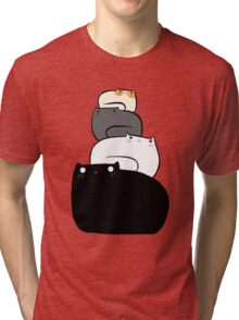 Cat Stack Tri-blend T-Shirt
