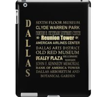 Dallas Famous Landmarks iPad Case/Skin