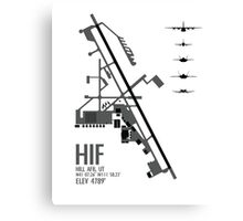 Hill Air Force Base Airfield Diagram (Gray) Canvas Print