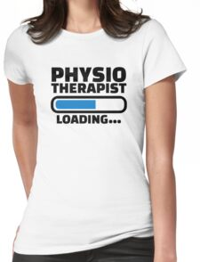 Physiotherapist loading Womens Fitted T-Shirt