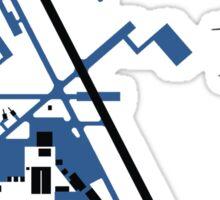 Hill Air Force Base Airfield Diagram (Blue) Sticker