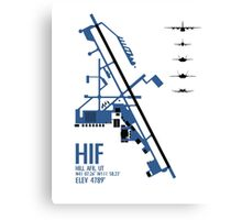 Hill Air Force Base Airfield Diagram (Blue) Canvas Print