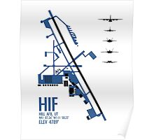 Hill Air Force Base Airfield Diagram (Blue) Poster