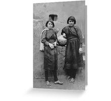 Edward S. Curtis - Zuni Girls Greeting Card