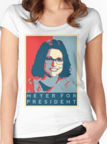 Meyer for President Women's Fitted Scoop T-Shirt