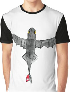 Watercolour Toothless Graphic T-Shirt