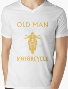 Never Underestimate an old Man with Motorcycle Mens V-Neck T-Shirt