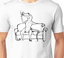 Raptor On A Couch. Unisex T-Shirt