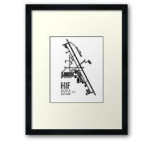 Hill Air Force Base Airfield Diagram (Gray, No Planes) Framed Print