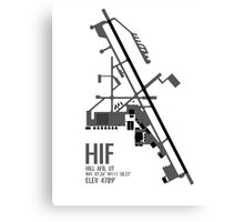 Hill Air Force Base Airfield Diagram (Gray, No Planes) Canvas Print