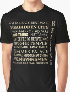 Beijing Famous Landmarks Graphic T-Shirt