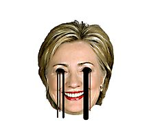 Evil Hilary Clinton 2 Melty Eyes Photographic Print
