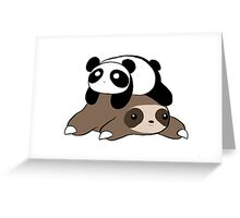Sloth and Panda Greeting Card