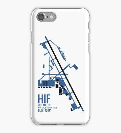 Hill Air Force Base Airfield Diagram (Blue, No Planes) iPhone Case/Skin