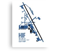 Hill Air Force Base Airfield Diagram (Blue, No Planes) Canvas Print