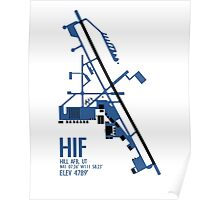 Hill Air Force Base Airfield Diagram (Blue, No Planes) Poster