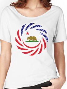 Californian Murican Patriot Flag Series Women's Relaxed Fit T-Shirt