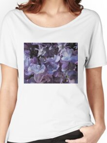 Lilac macro Women's Relaxed Fit T-Shirt