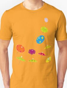 Paper drink umbrellas Unisex T-Shirt