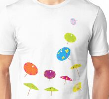 Paper drink umbrellas Unisex T-Shirt