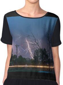 17th Street Thunder and Lightning Chiffon Top