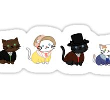 Sense and Sensibility Cats Sticker
