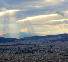 Sunbeams over Athens Sticker