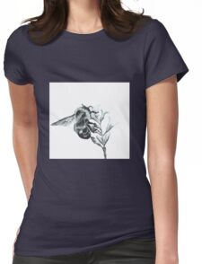 Monochrome Bee Womens Fitted T-Shirt