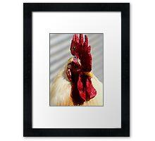 One Badass Mother Clucker Framed Print